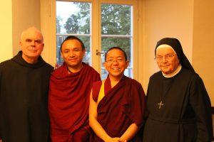 Br. Jakobus Kaffanke, Assistent Ourgan, Dolpo Tulku Rinpoche, Sr. Canisia